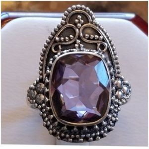 Jewelry - 6ct Color Changing Alexandrite Ring Size 8